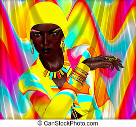 African beauty,colorful abstract