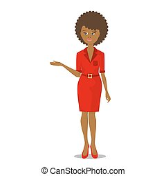 african black woman in red