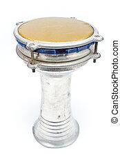 African bongo drum isolated on white