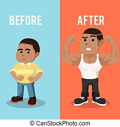 African boy before after