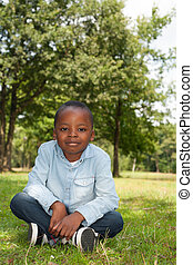 African boy in the nature
