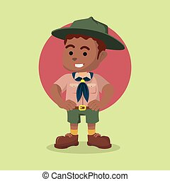 African boy scout illustration
