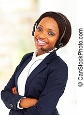 african business call center operator - young african...
