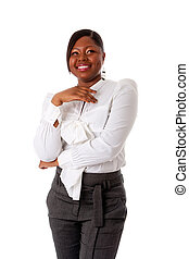 African business woman laughing