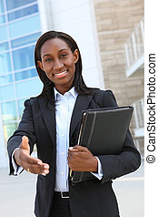 African Business Woman - A pretty african american business...