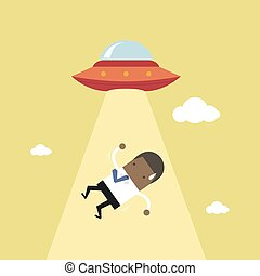 African businessman abducted by UFO.
