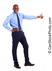 African businessman giving thumb up