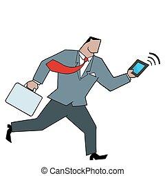 African Businessman Running