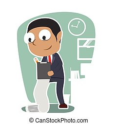 African businessman working illustration vector