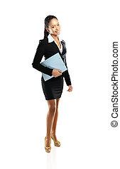 African businesswoman portrait full length