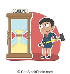 African businesswoman want to break deadline hourglass with...