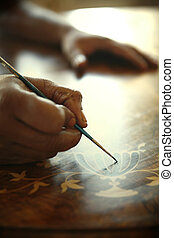 African Carpenter Painting Antiques