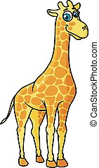 African cartoon giraffe character