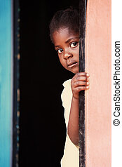African child - Portrait of poor African child, location...