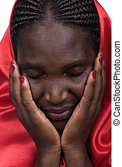 African Christian woman - Young woman Zimbabwe, black and...