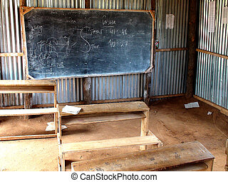 African classroom in Somali migrant camp, Dadab, Kenya