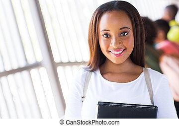 african college girl portrait
