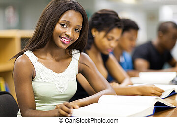 african college students studying