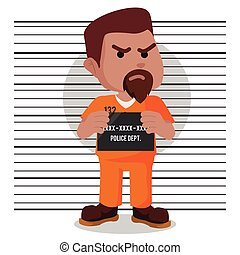 African convict mugshot illustration