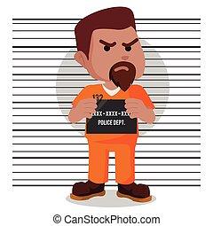 African convict mugshot illustration