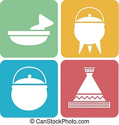African Cooking Icons Illustration
