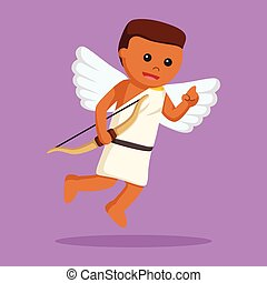 African cupid with bow