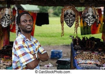 African curio salesman - African small business curio ...
