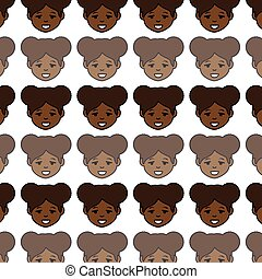 african cute woman ethnicity character vector illustration...