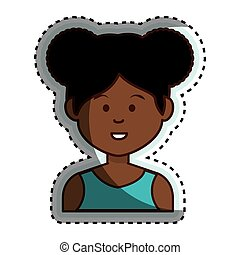 african cute woman ethnicity character