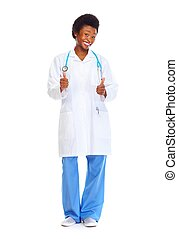 African doctor woman.