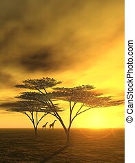 African Dream - 3D-Render of an african scene