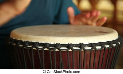African drum (djembe), with sound