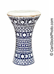 African drum isolated on a white background