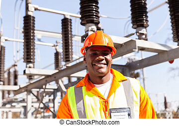 african electrical engineer portrait
