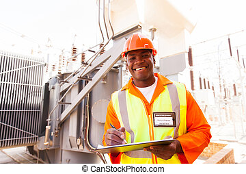 african electricity company substation worker