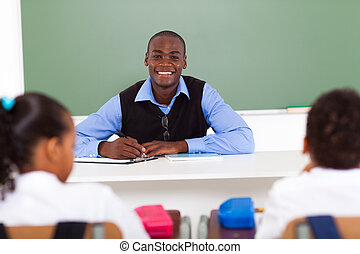 african elementary school teacher