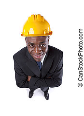 African engineer businessman
