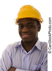 african engineer smilling