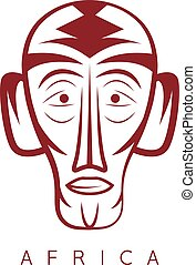 African ethnic culture mask vector design template