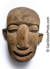 African face mask - A wooden african face mask with...
