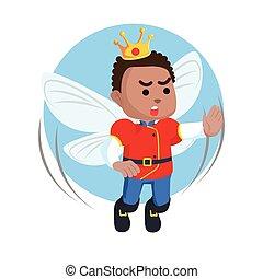 African fairy prince illustration