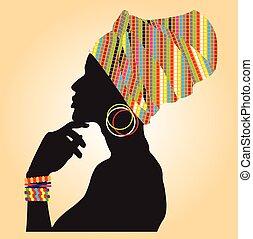 African fashion model.