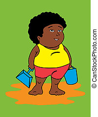 African fat kid