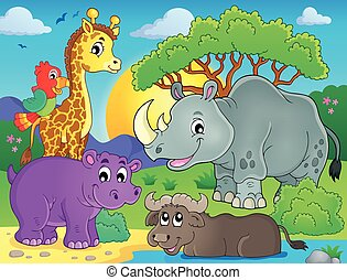 African fauna theme image 3 - eps10 vector illustration.