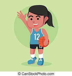 African female basketball player
