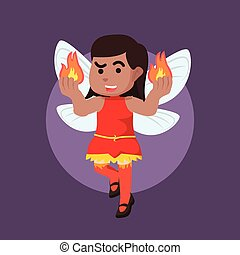 African flame fairy illustration