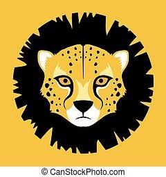 african gepard face - Creative design of african gepard face