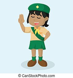 African girl scout salute