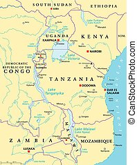 African Great Lakes, political map - African Great Lakes. ...