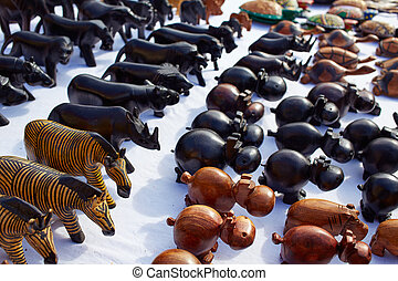 African handcrafts wooden crafts handcarved animals
